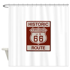 Fontana Route 66 Shower Curtain