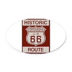 Fontana Route 66 Oval Car Magnet