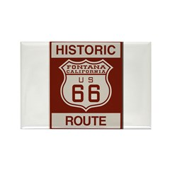 Fontana Route 66 Rectangle Magnet (10 pack)
