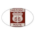 Fontana Route 66 Sticker (Oval)