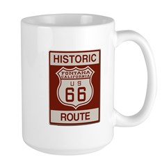 Fontana Route 66 Large Mug