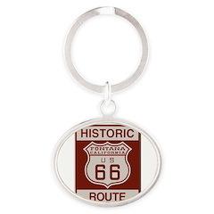 Fontana Route 66 Oval Keychain