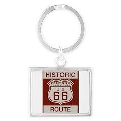 Fontana Route 66 Landscape Keychain