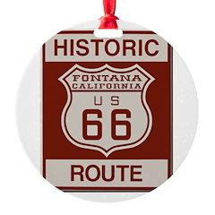 Fontana Route 66 Ornament
