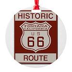 Fontana Route 66 Round Ornament