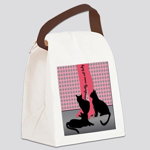 Purrfectly Sane Cat Lady Canvas Lunch Bag