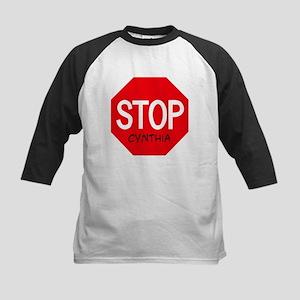 Stop Cynthia Kids Baseball Jersey