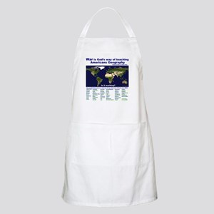 War is Gods Way of Teaching A BBQ Apron