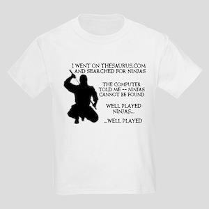 Thesaurus Ninja Funny T-Shirt Kids Light T-Shirt