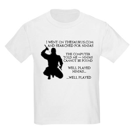 Thesaurus Ninja Funny Kids Light T-Shirt Thesaurus Ninja ...
