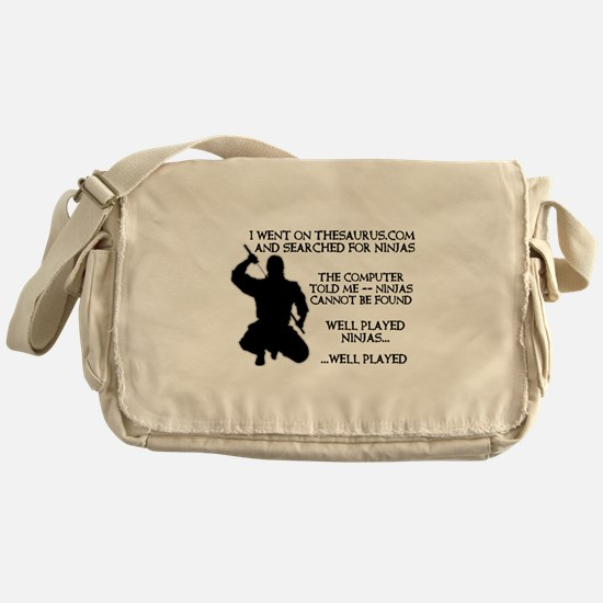 Thesaurus Ninja Funny T-Shirt Messenger Bag