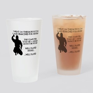 Thesaurus Ninja Funny T-Shirt Drinking Glass