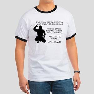 Thesaurus Ninja Funny T-Shirt Ringer T