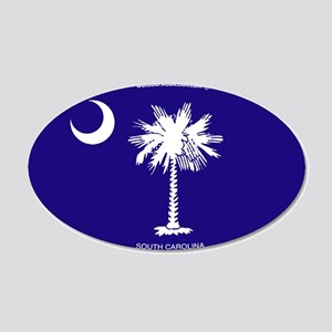 sc_flag_tp 20x12 Oval Wall Decal