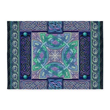 Celtic Atlantis Opal 5 X7 Area Rug By Artoffoxvox