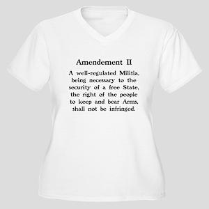 Second Amendment Women's Plus Size V-Neck T-Shirt