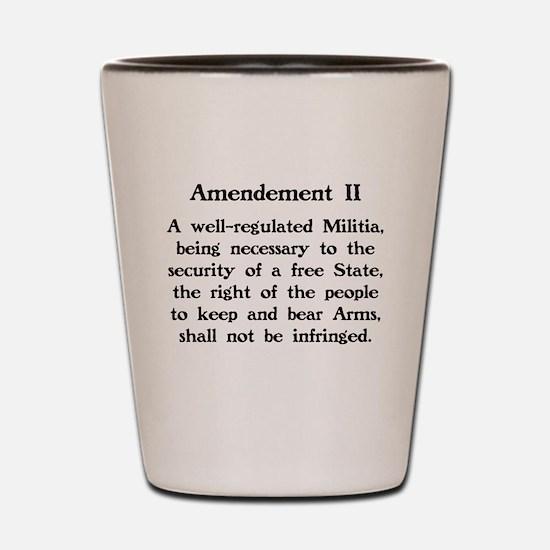 Second Amendment Shot Glass