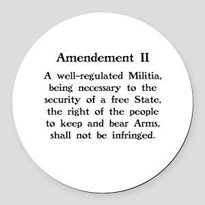 Second Amendment Round Car Magnet