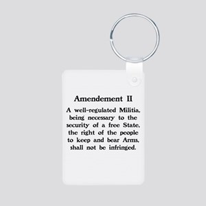Second Amendment Aluminum Photo Keychain