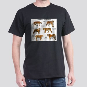 Tigers of the World Dark T-Shirt