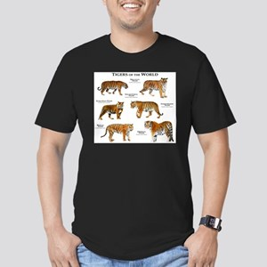 Tigers of the World Men's Fitted T-Shirt (dark)
