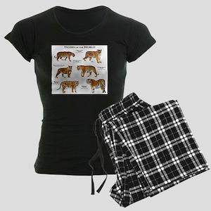 Tigers of the World Women's Dark Pajamas