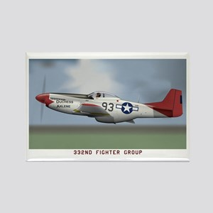 P51D_redtail Rectangle Magnet