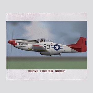 P51D_redtail Throw Blanket