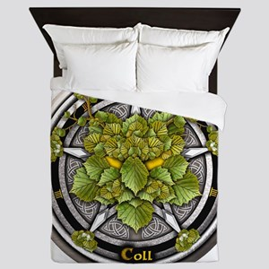 Hazel Celtic Greenman Pentacle Queen Duvet