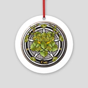 Hazel Celtic Greenman Pentacle Ornament (Round)