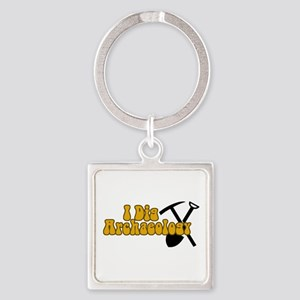 Archaeology Square Keychain