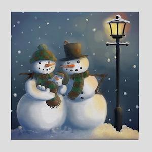 Snow Family Tile Coaster