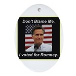 I Voted For Romney Ornament (Oval)