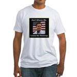 I Voted For Romney Fitted T-Shirt
