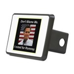 I Voted For Romney Rectangular Hitch Cover
