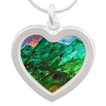 Green Mountains Silver Heart Necklace