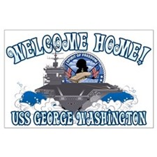 Welcome Home! CVN-73 Large Poster