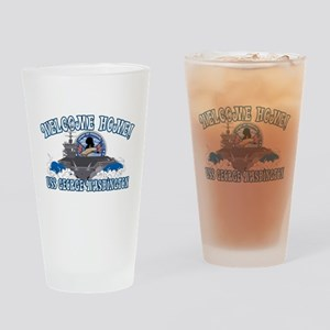 Welcome Home! CVN-73 Drinking Glass