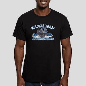 Welcome Home! CVN-73 Men's Fitted T-Shirt (dark)