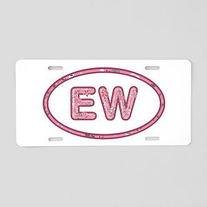EW Pink Aluminum License Plate