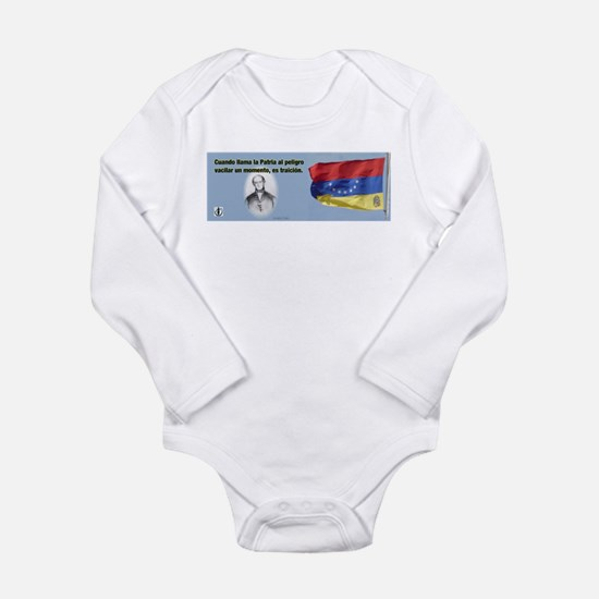 Patria en Peligro Long Sleeve Infant Bodysuit