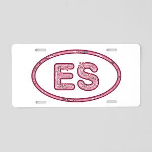 ES Pink Aluminum License Plate