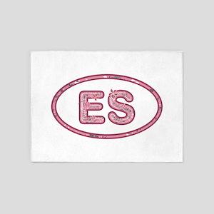 ES Pink 5'x7'Area Rug