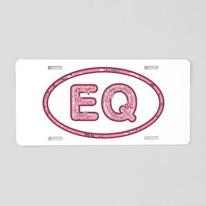 EQ Pink Aluminum License Plate