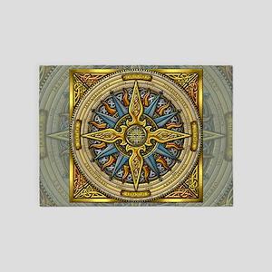 Celtic Compass 5'x7'Area Rug