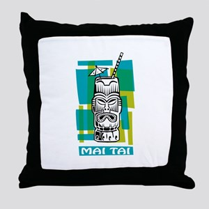 Mai Tai Tiki Cocktail Throw Pillow