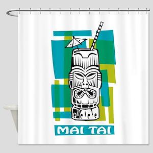 Mai Tai Tiki Cocktail Shower Curtain