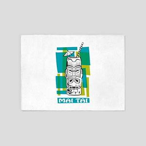 Mai Tai Tiki Cocktail 5'x7'Area Rug