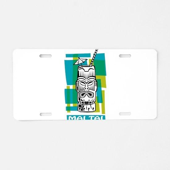 Mai Tai Tiki Cocktail Aluminum License Plate