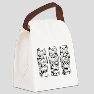Three Tiki Statues Canvas Lunch Bag